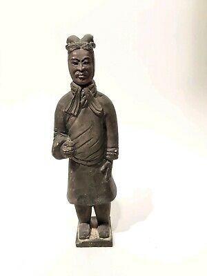 """Chinese Clay Terracotta Warriors Soldier Statue Figurine, Appr. 6""""/16cm Height"""