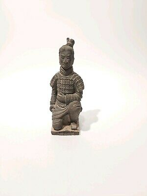 """Chinese Clay Terracotta Warriors Soldier Statue Figurine, Appr. 5""""/12cm Height"""