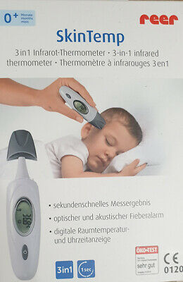 3in1 Infrarot Thermometer Stirnthermometer Ohr Fieberthermometer Reer Skin Temp@