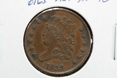1833 Classic Head Half Cent Obverse Digs 08XY