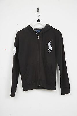 RALPH LAUREN Girls Hoodie - Large Cotton Black  Kids