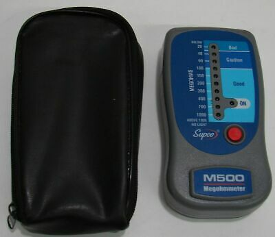 SUPCO M500 Insulation Tester/Electronic Megohmmeter with Soft Case
