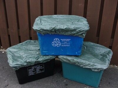 2x Recycling Box/Bin Cover/Lid - Elasticated, Tie on, Wind/Weatherproof, Recycle