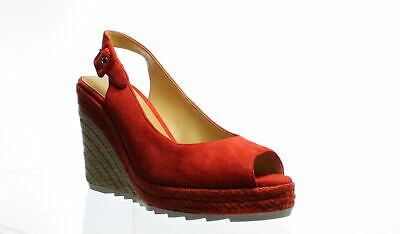 Nine West Womens Zoey Red Espadrilles Size 8.5 (1039973)