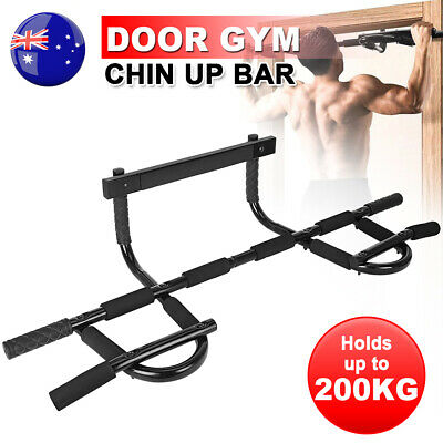 Pull Chin Up Bar Door Station Gym Doorway Portable Muscle Power Exercise Fitness
