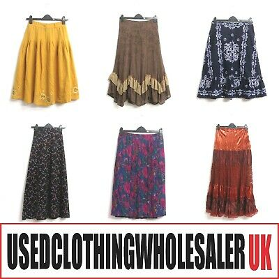 25 VINTAGE SKIRTS 70's 80's GRADE A WOMEN'S WHOLESALE CLOTHING FASHION JOB LOT