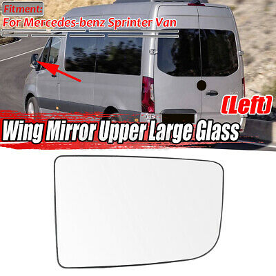 Lower Left Mirror Glass w//Plate for 2007-2018 Sprinter 2500 3500 Driver Side