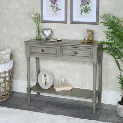 Vintage taupe painted console table storage unit hallway living room french