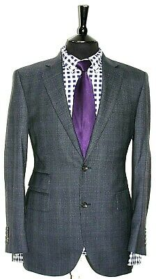 Luxury Mens Chesterbarrie Bespoke Made Pinstripe Suit 42R W34 X L31.5