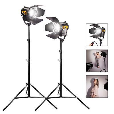 LED Fresnel 50W Spotlights Dimmable Professional Studio Photography Lighting Kit