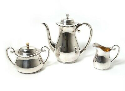 Silver tea set, 3 items.   Was imported to Sweden, year 1919.
