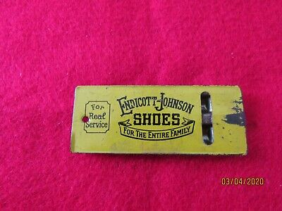 Vintage Endicott-Johnson tin advertising whistle. RARE