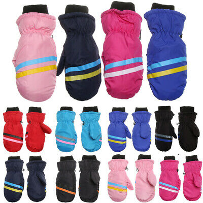 Warm Long-sleeved Mitten Snow Snowboard Outdoor Riding Children Ski Gloves