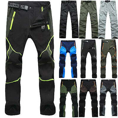 Mens Outdoor Trekking Climbing Hiking Trousers Waterproof Loose Tactical Pants