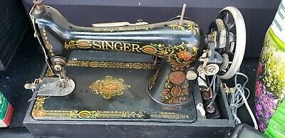 Antique Singer 'Red Eye' Sewing Machine 1910 Treadle