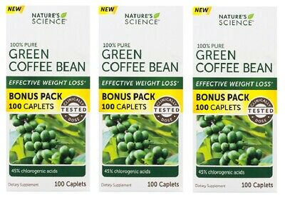 3 Pack Nature S Science Green Coffee Bean Weight Loss Caplets