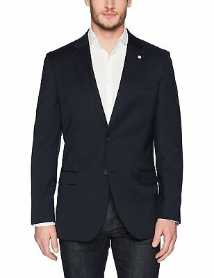 Nautica Mens Suit Separate Blue Size 40 Stretch Slim Fit Two Button $189 761