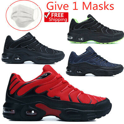 Mens Shock Absorbing Running Trainers Casual Lace Gym Walking Sports Shoes UK