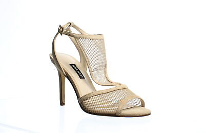 Nine West Womens Manchon Beige Ankle Strap Heels Size 7 (1053421)