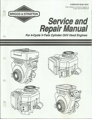 Briggs & Stratton 1991 4-Cycle V-Twin OHV Engines Service Repair Manual MS-9856