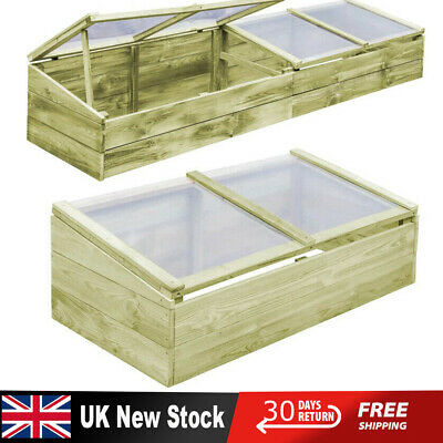 Adjustable Wooden Roof Cold Frame Greenhouse Growhouse Plant Hothouse Flower Bed