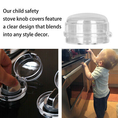Kitchen Plastic Knob Cover Gas Stove Protector Child Protection Oven Lock Lid