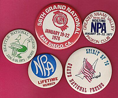 National Pigeon Association~Grand Nat Show Pins~Look See