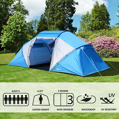 4-6 Person Sport Camping Tent Instant Dome Tent Portable 2000mm Waterproof