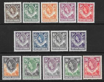 Northern Rhodesia 1953 Set to 20/- (Mint)