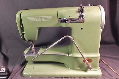 Vintage Elna Model Supermatic Portable Sewing Machine