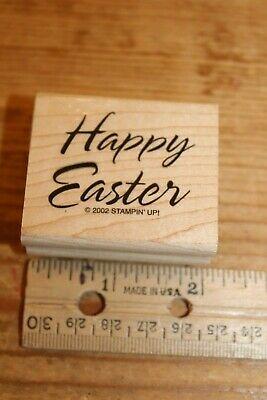 """Happy Easter Rubber Stamp Wood Mounted by Craft Smart 2/""""x2/"""""""