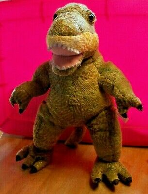 "BUILD A BEAR BABW Green Dinosaur T-Rex Tyrannosaurus Rex with Scales 18"" Tall"