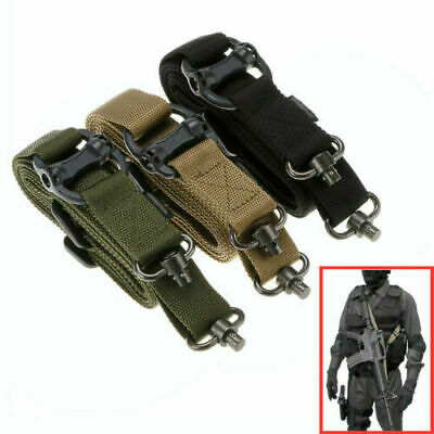 "Rifle Sling Retro Tactical Quick Detach QD 1 or 2Point 1.2"" Adjust Multi Mission"