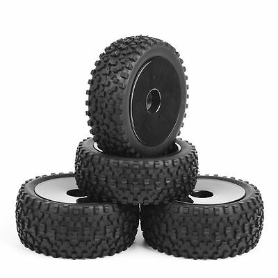 4pcs 1//8 RC Off Road Tires /& Hex 17mm Wheels for All Terrain Wild Buggy Car Part