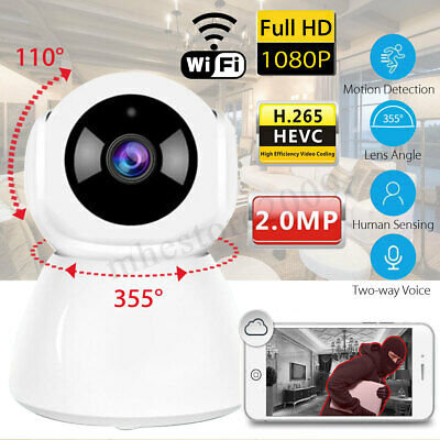 Smart Security IP Camera 1080P WiFi Wireless Pan Tilt CCTV Night Vision Webcam