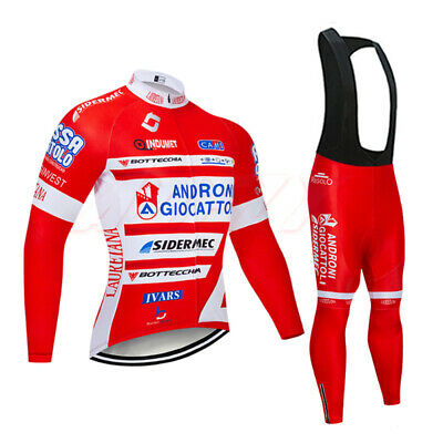 Mens Cycling Jersey Pants Set Long Sleeve Breathable Top for Bike Racing Jacket