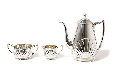 Silver coffee set, 3 items. Modern. Germany.