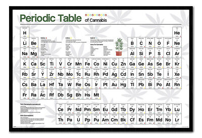 T662 Hot Fabric Poster Periodic Table of Cannabis 36x24 30x20
