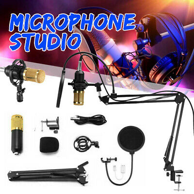 BM800 Condenser Microphone Mic Kit USB Audio interface & Studio Microphone Stand