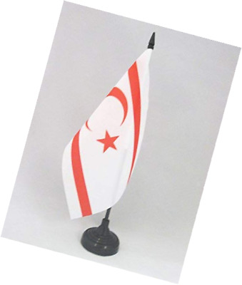 Cyprus Cypriot 4 x 6 Desktop Table Flag With Base