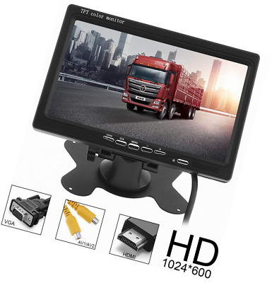ePathChina® Car Rear View Monitor 2 Video Input DVD VCD Headrest Vehicle Support