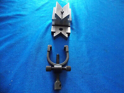 L.S. Starrett No. 567 Toolmakers V-Block and Clamp   Used  Really Good Shape