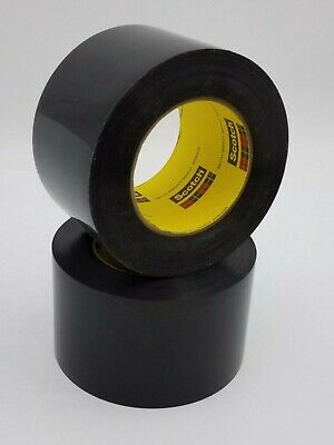 2pc Lot Scotch 3M 481 Polyethylene Plastic Preservation Tape 3 x 36 Yard Black