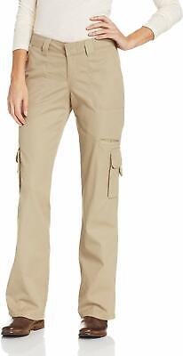 Dickies Women's Beige Size 18 Straight Leg Relaxed Cargo Pants Cotton $40- #384