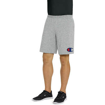 Champion Men's Shorts Classic Jersey Shorts Big C Logo With Pockets Gray Size M