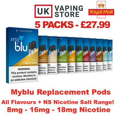 Myblu E Liquid Vaping Pods - NS Intense - All Flavours Tobacco Menthol 8 16 18