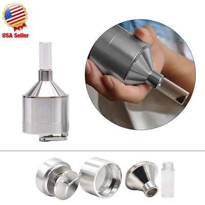 Powder Grinder 3 PC Metal Spice Hand Mill Funnel Snuff + 2 FREE GIFTS USA