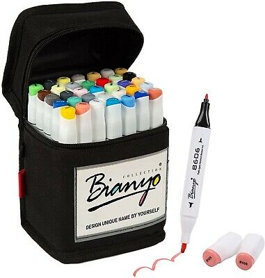 Bianyo Dual Tips Art Sketch Markers for Adults& Kids Coloring Drawing(36 pieces)