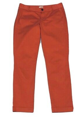 J. Crew Factory Frankie Size 2 Womens Coral Stretch Chino Ankle Pants