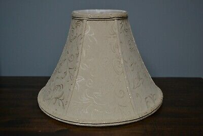"""Fabric Bell-Shaped Lamp Shade in Green Height 9/"""" by Glenwood Designs"""